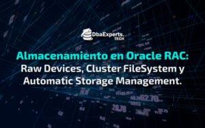 Almacenamiento en Oracle RAC y sus tres soluciones.